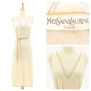 Vintage Yves Saint Laurent Sleeveless 70's Dress